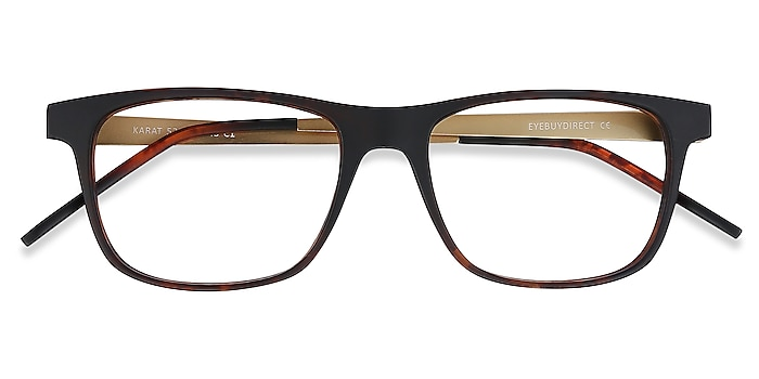 Tortoise Karat -  Lightweight Plastic, Metal Eyeglasses