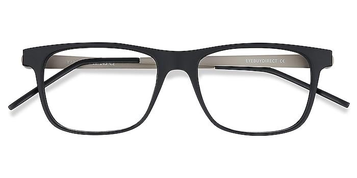 Black Karat -  Lightweight Plastic, Metal Eyeglasses