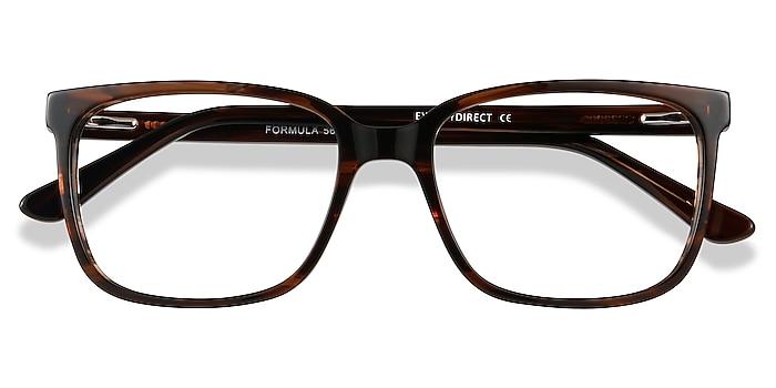 Brown Striped Formula -  Acetate Eyeglasses