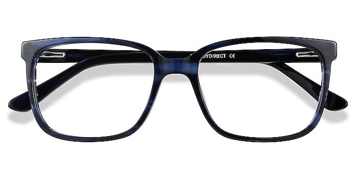 Blue Striped Formula -  Colorful Acetate Eyeglasses