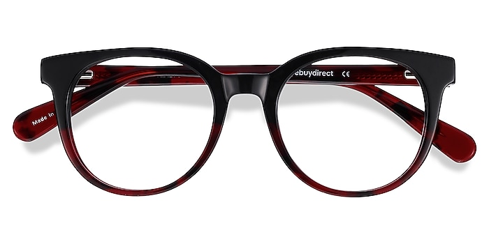 Black Red Rialto -  Acetate Eyeglasses