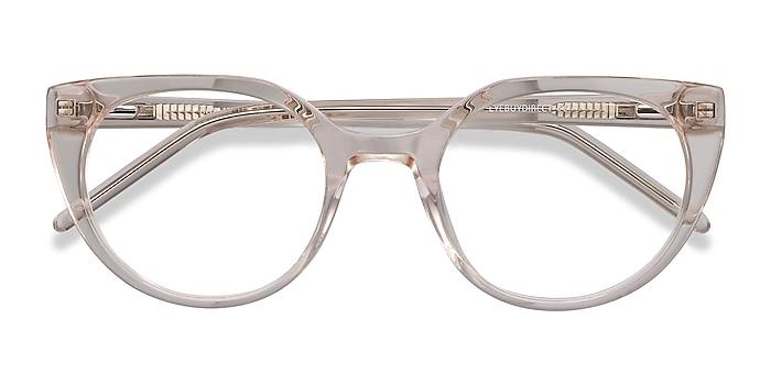 Clear brown Rhyme -  Vintage Acetate Eyeglasses
