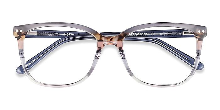 Gray Striped North -  Fashion Acetate Eyeglasses