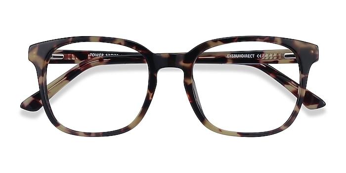 Tortoise Tower -  Geek Acetate Eyeglasses