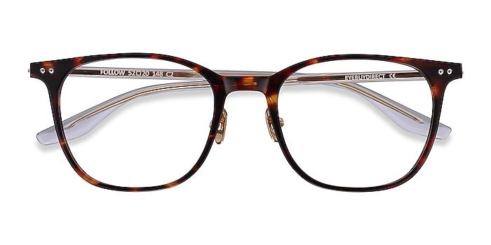 Tortoise Follow -  Lightweight Acetate Eyeglasses