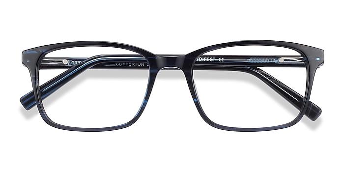 Blue Striped Clipperton -  Acetate Eyeglasses