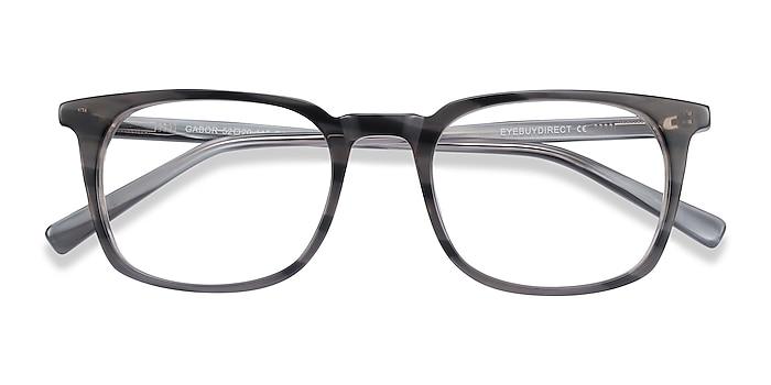 Gray Striped Gabor -  Acetate Eyeglasses