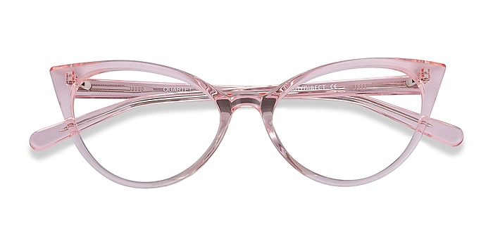 Clear Pink Quartet -  Colorful Acetate Eyeglasses