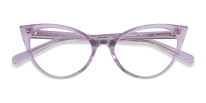 Clear Purple Quartet -  Coloré Acétate Lunettes de vue