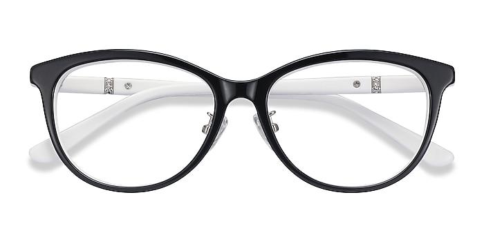 Black White Helena -  Acetate Eyeglasses