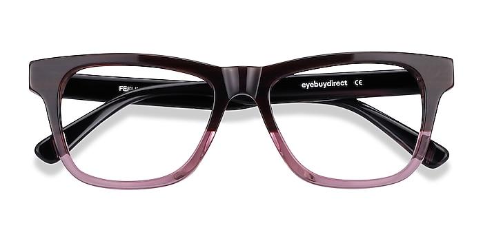 Brown Purple Feeling -  Acetate Eyeglasses