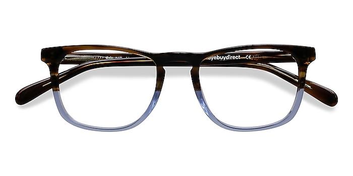 Brown Blue Found -  Acetate Eyeglasses