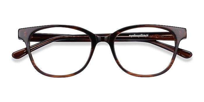 Brown Striped Patra -  Acetate Eyeglasses