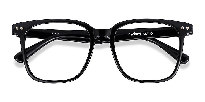 Black Piano -  Geek Plastic Eyeglasses