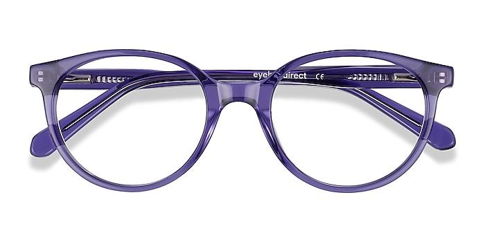 Clear Purple Trust -  Acetate Eyeglasses
