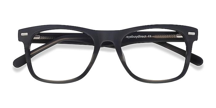 Gray Striped Caster -  Geek Acetate Eyeglasses