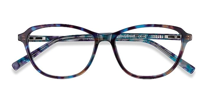 Blue Floral Ciencia -  Coloré Acétate Lunettes de vue