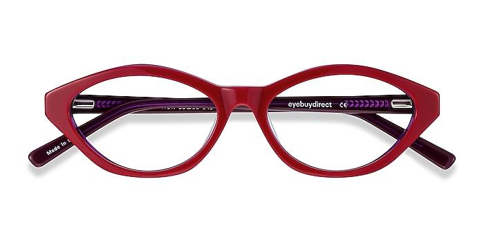 Raspberry & Purple Passion -  Vintage Acétate Lunettes de vue