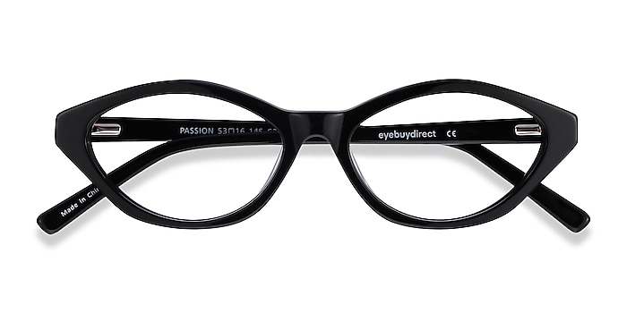 Black Passion -  Vintage Acetate Eyeglasses