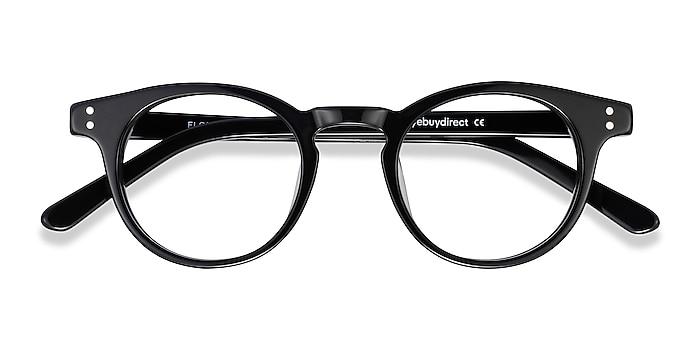Black Flora -  Acetate Eyeglasses