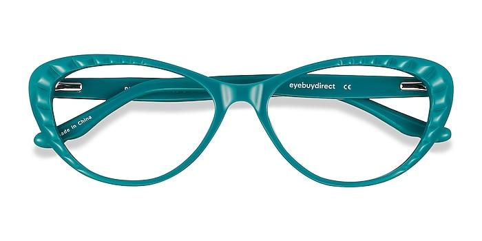 Teal Persona -  Vintage Acetate Eyeglasses