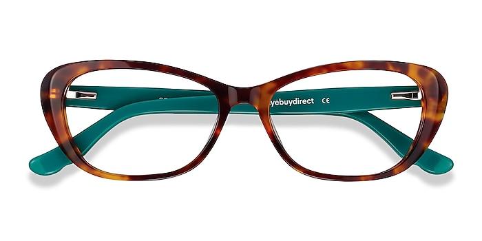 Tortoise & Teal Selina -  Fashion Acetate Eyeglasses