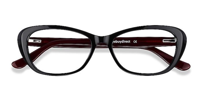Black & Burgundy Selina -  Fashion Acetate Eyeglasses