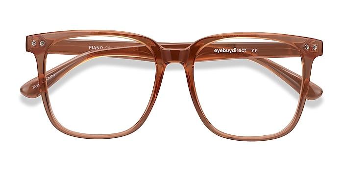 Brown Piano -  Geek Plastic Eyeglasses