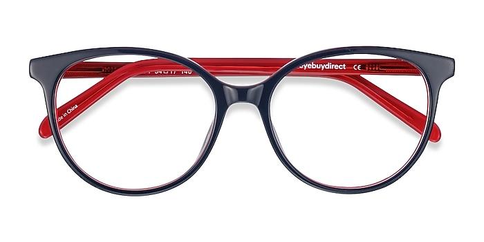 Navy & Red Patriot -  Colorful Acetate Eyeglasses