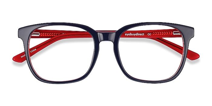 Navy & Red Firework -  Colorful Acetate Eyeglasses