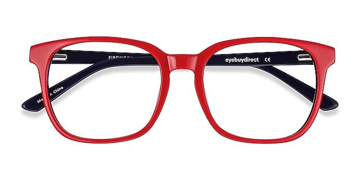 Red & Navy Firework -  Colorful Acetate Eyeglasses