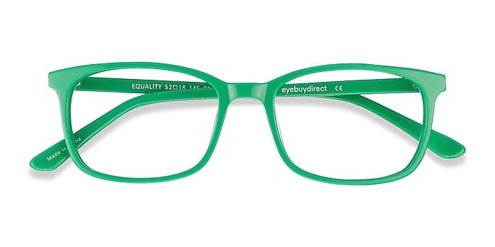 Vert Equality -  Coloré Acétate Lunettes de vue