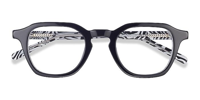 Black & Zebra Victor -  Vintage Acetate Eyeglasses