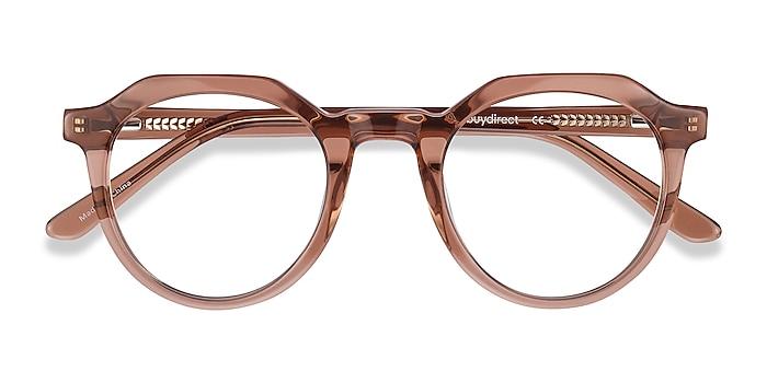 Clear Brown Mikoto -  Acetate Eyeglasses