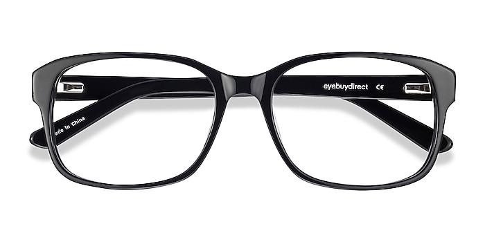 Black Tobias -  Vintage Acetate Eyeglasses