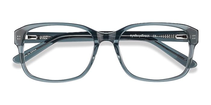 Clear Gray Tobias -  Vintage Acetate Eyeglasses