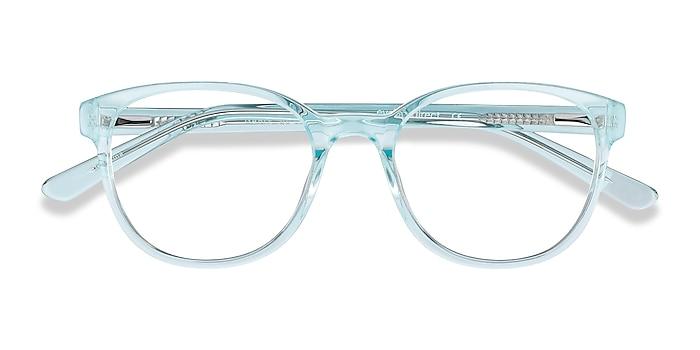 Clear Blue Gable -  Colorful Acetate Eyeglasses