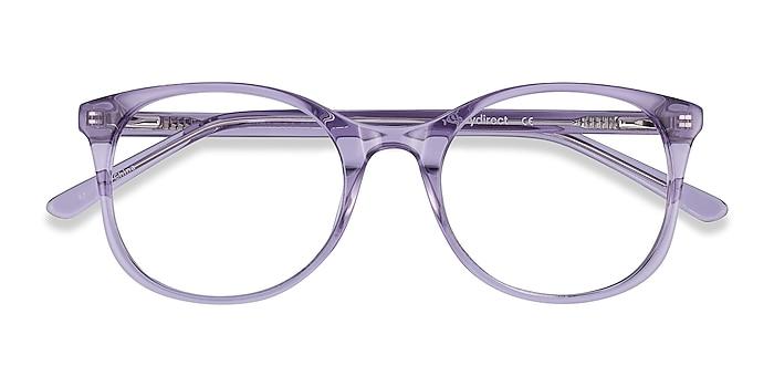 Clear Purple Greta -  Colorful Acetate Eyeglasses