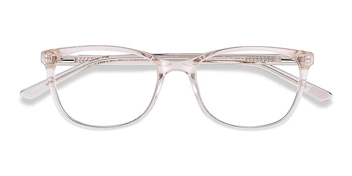 Clear Beige Lena -  Acetate Eyeglasses
