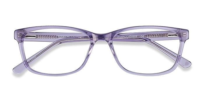 Clear Purple Marion -  Colorful Acetate Eyeglasses