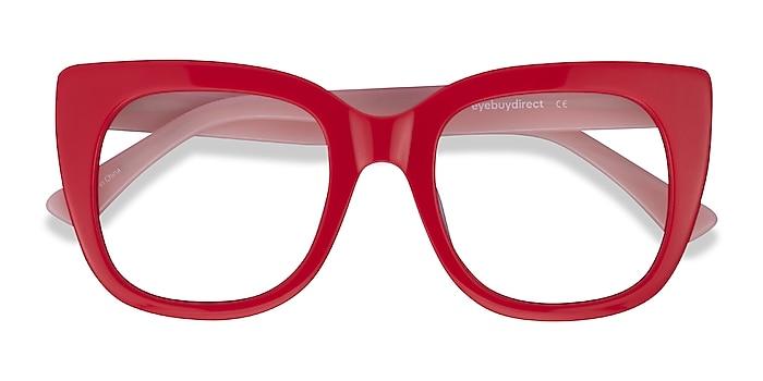 Red & Pink Unique -  Fashion Acetate Eyeglasses