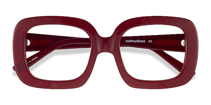 Burgundy Gloria -  Vintage Acetate Eyeglasses