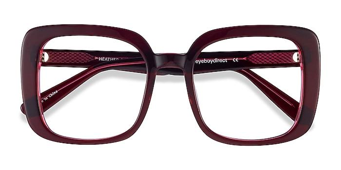 Burgundy Heather -  Vintage Acetate Eyeglasses