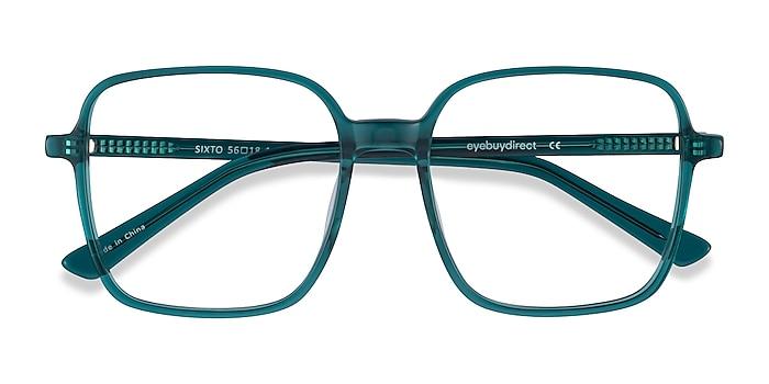 Teal Sixto -  Vintage Acetate Eyeglasses