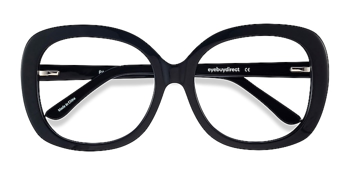 Black Pamela -  Vintage Acetate Eyeglasses