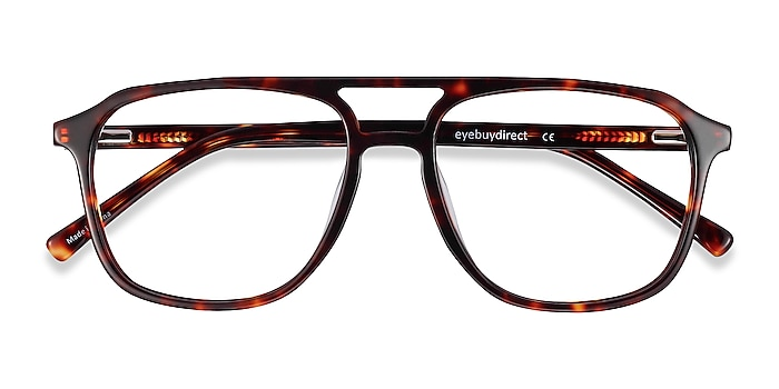 Tortoise Effect -  Fashion Acetate Eyeglasses