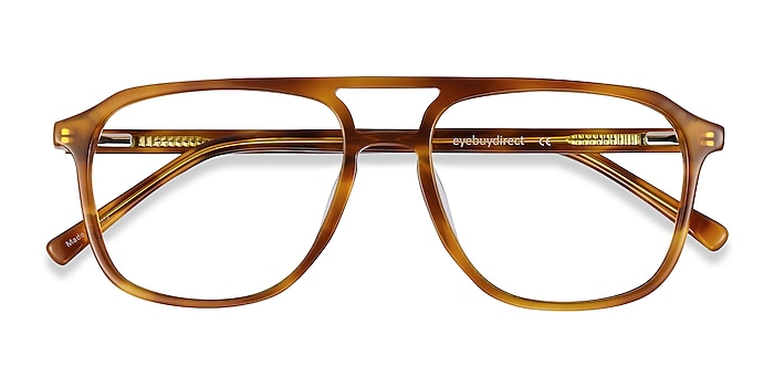 Light Tortoise Effect -  Vintage Acetate Eyeglasses