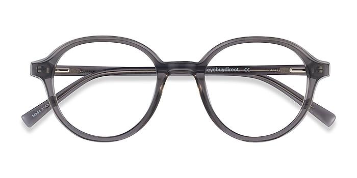 Clear Gray Satisfy -  Geek Acetate Eyeglasses