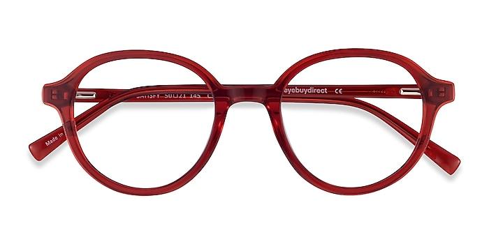 Clear Red Satisfy -  Geek Acetate Eyeglasses