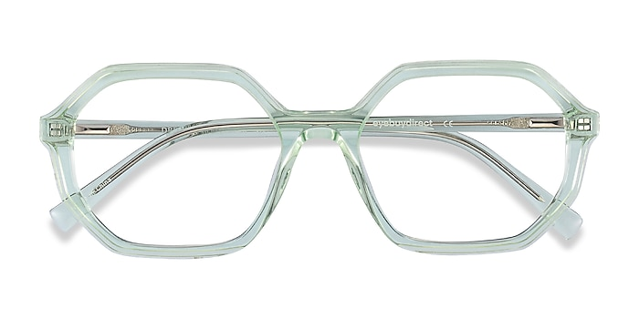 Clear Green Dream -  Colorful Acetate Eyeglasses